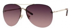 Jimmy Choo Fran/S Sunglasses Sunglasses - 0J5G Gold (A5 Brown Rose Lens)