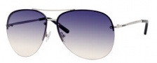 Jimmy Choo Fran/S Sunglasses Sunglasses - 0010 Palladium (l4 Blue Gradient Pea Lens)