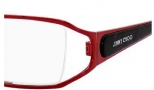 Jimmy Choo 27 Eyeglasses Eyeglasses - 0N0Y Red / Red Black