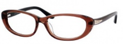 Jimmy Choo 50 Eyeglasses Eyeglasses - 0WTR Brown Glitter