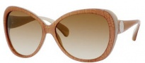 Jimmy Choo Julie/S Sunglasses Sunglasses - 0WTX Croc Nude Gold (JL Brown SS Gold Lens)