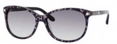 Jimmy Choo Lily/S Sunglasses Sunglasses - 0ZS7 Leopard (BD Dark Gray Gradient Lens)
