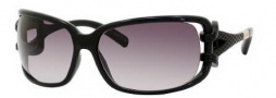 Jimmy Choo Mini JJ/S Sunglasses Sunglasses - 0D28 Shiny Black (BD Dark Gray Gradient Lens)