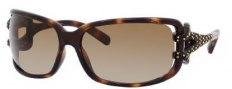 Jimmy Choo Mini JJ/Strass Sunglasses Sunglasses - 0NSK Dark Havana (S1 Brown Gradient Lens)