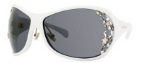 Jimmy Choo Nico/S Sunglasses Sunglasses - 0VK6 White (JF Dark Smoke Lens)