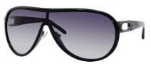 Jimmy Choo Protea/S Sunglasses Sunglasses - 0AK5 Shiny Black / Ruthenium (JJ Gray Gradient Lens)