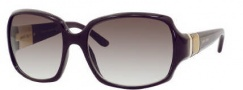 Jimmy Choo Saki/S Sunglasses Sunglasses - 0NZX Plum (5M Gray Gradient Aqua Lens)