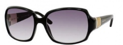 Jimmy Choo Saki/S Sunglasses Sunglasses - 0D28 Shiny Black (JJ Gray Gradient Lens)