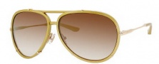 Jimmy Choo Terrence/S Sunglasses Sunglasses - 0WUJ Gold Metal (QH Brown Mirror Gold Shaded Lens)