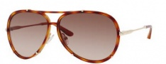 Jimmy Choo Terrence/S Sunglasses Sunglasses - 0WUK Light Havana (71 Brown Gradient Lens)
