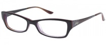 Guess GU 2227 Eyeglasses Eyeglasses - BLK: Black Over Red