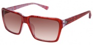 Modo Linda Sunglasses Sunglasses - Red Lines / Red Gradient Lens