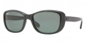 Ray-Ban RB4174 Sunglasses Sunglasses - 601 Shiny Black / Crystal Green
