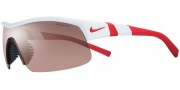 Nike Show X1 EV0618 Sunglasses Sunglasses - EV0618-106 White / Team Red / Max Speed Tint / Grey Lens