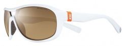 Nike Miler EV0613 Sunglasses Sunglasses - EV0613-102 White / Brown Lens