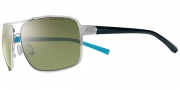 Nike Axon EV0607 Sunglasses Sunglasses - EV0607-072 Chrome / Team Royal / Green Lens