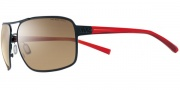Nike Axon EV0607 Sunglasses Sunglasses - EV0607-062 Matte Black / Crystal Red / Brown Lens