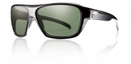 Smith Chief Sunglasses Sunglasses - Black / Polarized Gray Green