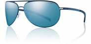 Smith Showdown Sugnlasses Sunglasses - Matte Blue / Polarized Blue Mirror