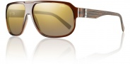 Smith Gibson Sunglasses Sunglasses - Brown Wood / Polarized Gold Gradient Mirror