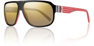 Smith Gibson Sunglasses Sunglasses - Black Red / Polarized Gold Graident Mirror