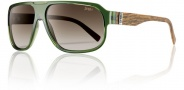 Smith Gibson Sunglasses Sunglasses - Green Wood / Polarized Brown Gradient