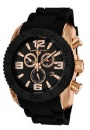 Swiss Legend Commander IP Bezels Watch 20067 Watches - RG-01-BB Black Face / Rose Gold / Black Band