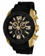 Swiss Legend Commander IP Bezels Watch 20067 Watches - YG-01-BB Black Face / Yellow Gold / Black Band