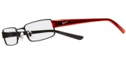 Nike 8061 Eyeglasses Eyeglasses - 027 Satin Black / Red