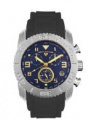 Swiss Legend Commander Rubber Watch 20065 Watches - 33-GN Blue Face / Gold Dial / Gray Band