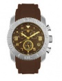 Swiss Legend Commander Rubber Watch 20065 Watches - 44-GN Brown Face / Gold Dial / Brown Band