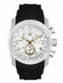 Swiss Legend Commander Rubber Watch 20065 Watches - 22-GN White Face / Gold Dial / Black Band