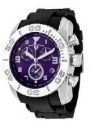 Swiss Legend Commander Rubber Buckle Watch 20065 Watches - 011B Purple Face / Black Band