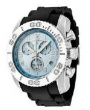 Swiss Legend Commander Rubber Buckle Watch 20065 Watches - 012B Light Blue Face / Black Band