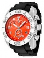 Swiss Legend Commander Rubber Buckle Watch 20065 Watches - 06B Orange Face / Black Band