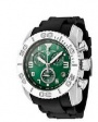 Swiss Legend Commander Rubber Buckle Watch 20065 Watches - 08B Matte Green Face / Black Band