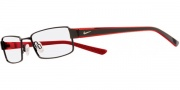 Nike 8065 Eyeglasses Eyeglasses - 001 Black / Translucent Red 