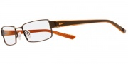 Nike 8065 Eyeglasses Eyeglasses - 244 Shiny Brown / Translucent Orange 