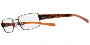 Nike 8075 Eyeglasses  Eyeglasses - 226 Matte Dark Brown / Orange