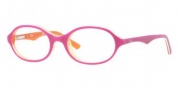 Ray-Ban Junior RY1526 Eyeglasses Eyeglasses - 3565 Top Fuxia On TR / Orange Demo Lens