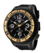 Swiss Legend Neptune Pilot Black IP Watch 21818 Watches - 21818P-BB-01-GA White Dial / Black Band / Gold Crown