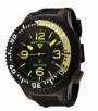 Swiss Legend Neptune Pilot Black IP Watch 21818 Watches - 21818P-BB-01-YB Yellow Dial / Black Band