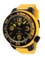 Swiss Legend Neptune Pilot Black IP Watch 21818 Watches - 21818P-BB-01-YBL Yellow Dial / Yellow Band