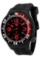 Swiss Legend Neptune Pilot Black IP Watch 21818 Watches - 21818P-BB-01-RB Red Dial / Black Band