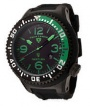 Swiss Legend Neptune Pilot Black IP Watch 21818 Watches - 21818P-BB-01-GB Green Dial / Black Band
