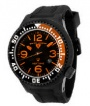 Swiss Legend Neptune Pilot Black IP Watch 21818 Watches - 21818P-BB-01-OB Orange Dial / Black Band