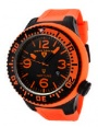 Swiss Legend Neptune Pilot Black IP Watch 21818 Watches - 21818P-BB-01-OBS Orange Dial / Orange Band