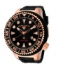 Swiss Legend Neptune Diver Rose IP Watch 21818 Watches - 21818D-RG-01-NB Black Crown / Black Band