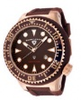 Swiss Legend Neptune Diver Rose IP Watch 21818 Watches - 21848D-RG-04 Brown Crown / Brown Band