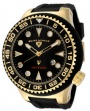 Swiss Legend Neptune Diver Yellow IP Watch 21818 Watches - 21218D-YG-04-NB Black Face / Black Band / Black Crown